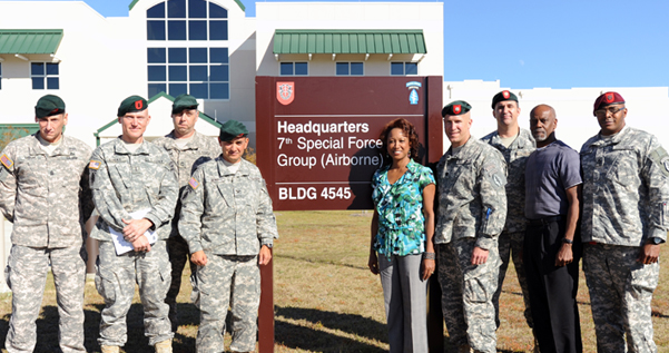 Jennifer visits with 7th Special Forces Group