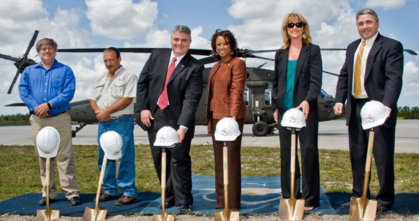 Jennifer  at groundbreaking as she announces expansion of Sikorsky job expansion in Florida