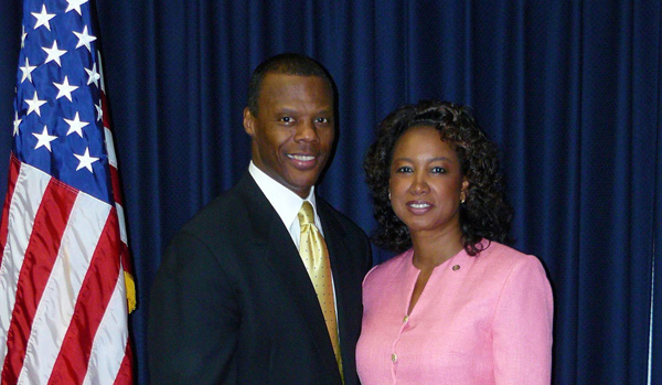 Jennifer and Congressman J.C. Watts