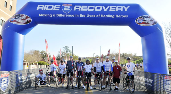 Jennifer participated in Ride 2 Recovery with Disabled Veterans